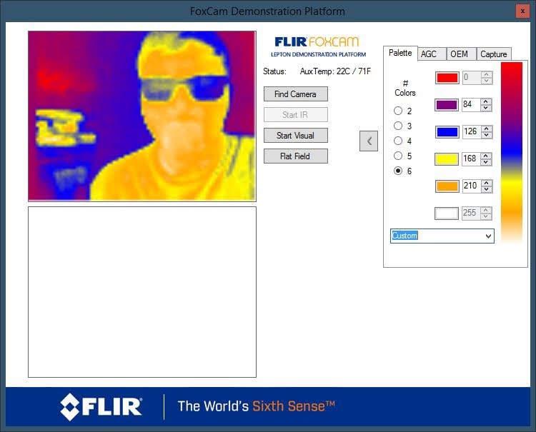 Updated FLIR Lepton PocketCam GUI