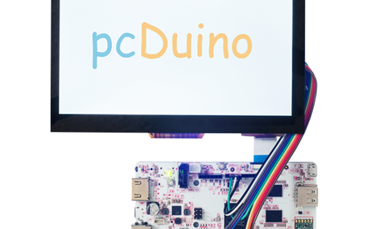 "pcDuino3B with 7"" 1024x600 Touch LCD"